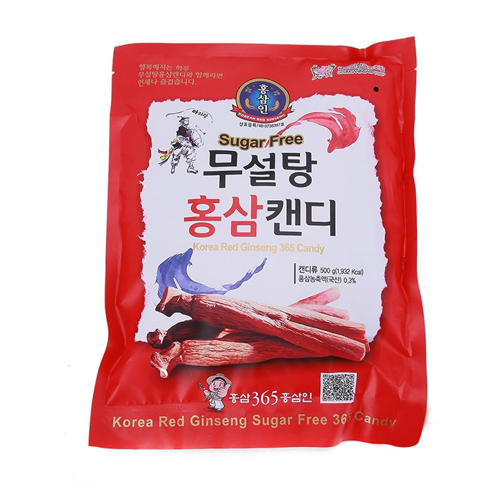 Kẹo sâm Sugar Red Gingseng 365 Candy, 500g Hàn Quốc