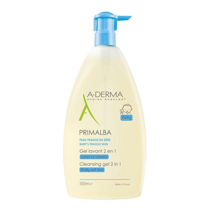 Sữa tắm gội cho bé A-derma Primalba Cleansing Gel 2 in 1 500ml