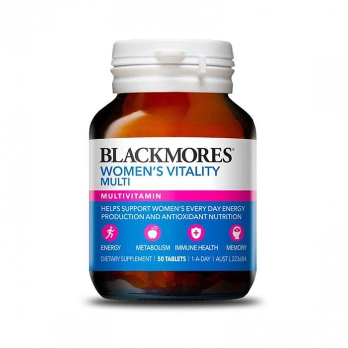 Viên uống Blackmores Women's Vitality Multi, Lọ 50 viên