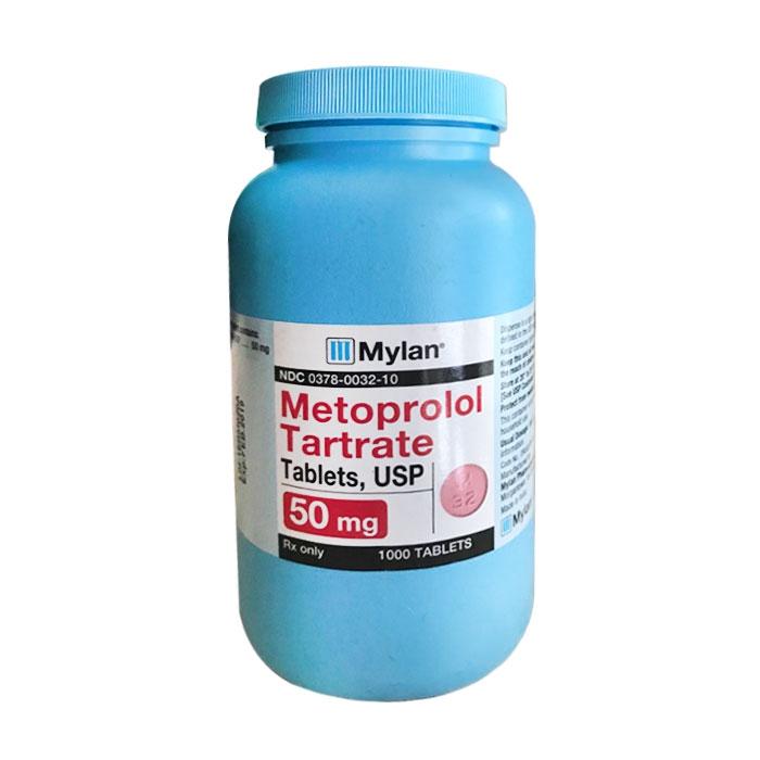 Thuốc Mylan Metoprolol Tartrate  50mg, Chai 1000 viên