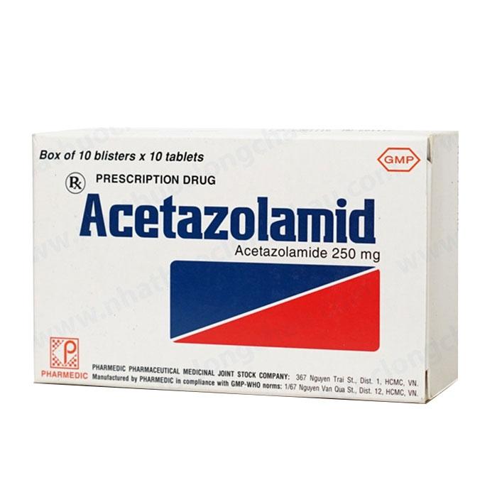 Pharmedic Acetazolamid 250mg, Hộp 100 viên