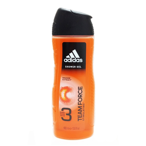 Sữa tắm, gội, rửa mặt Adidas Team Force Orange Extract (Body, Hair, Face) Shower Gel, Chai 400ml