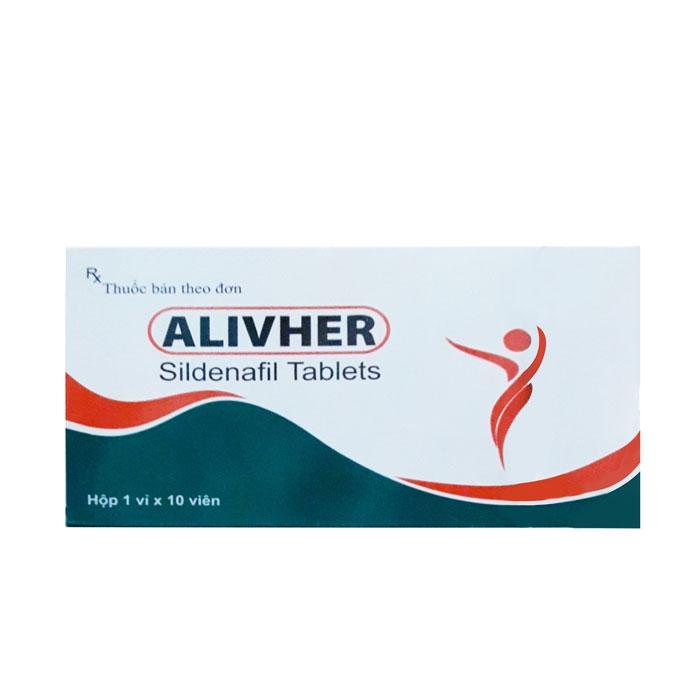 Thuốc cường dương Alivher, Hộp 10 viên