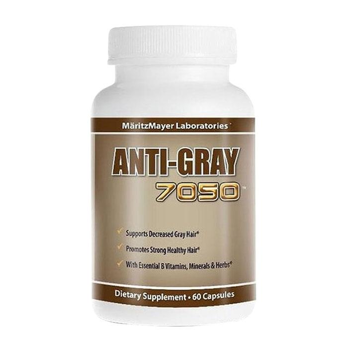 Viên hỗ trợ trị tóc bạc sớm Anti Gray Hair 7050, Hộp 60 viên