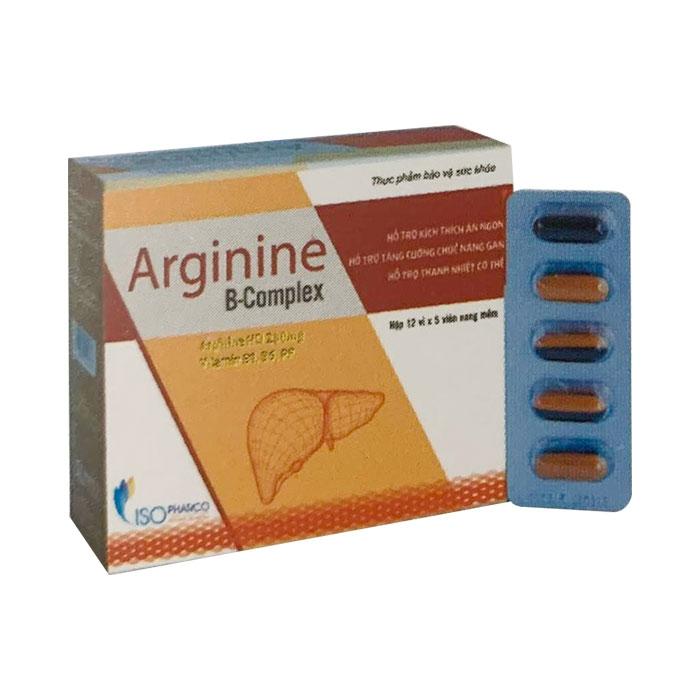 Tpbvsk Isopharco Arginine B Complex, Hộp 60 viên