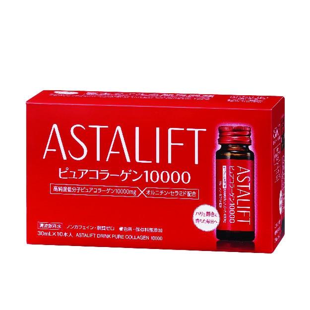 Nước uống đẹp da chống lão hóa Astalift Drink Pure Collagen 10,000mg, 30 chai 30ml