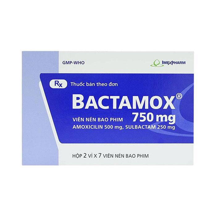 Thuốc kháng sinh Imexpharm Bactamox 750mg, Hộp 14 viên