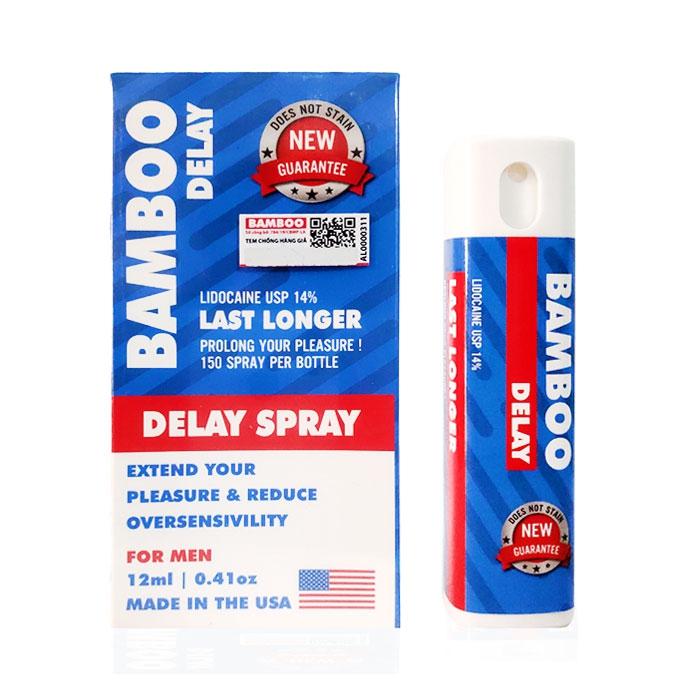Xịt chống xuất tinh sớm Bamboo Delay Spray USA, Chai 12ml