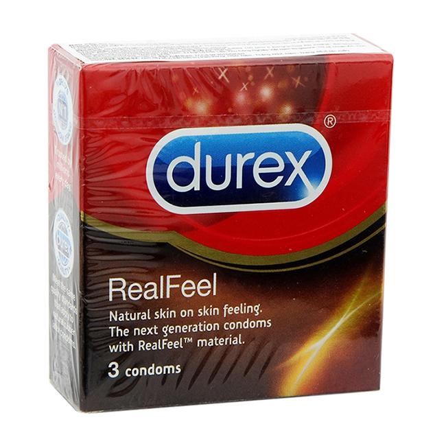 Bao cao su Durex Real Feel, Hộp 03 cái
