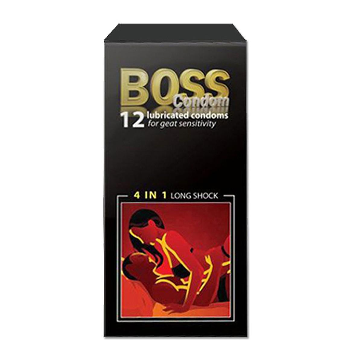 Bao cao su Malaysia Boss 4 trong 1, Hộp 12 Cái