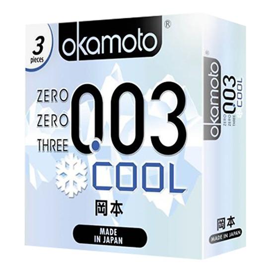 Bao Cao Su Okamoto 0.03 Cool - Hộp 3 cái