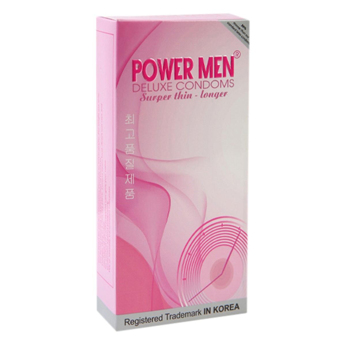 Bao Cao Su Power Men Super Thin Longer - Hộp 12 Cái
