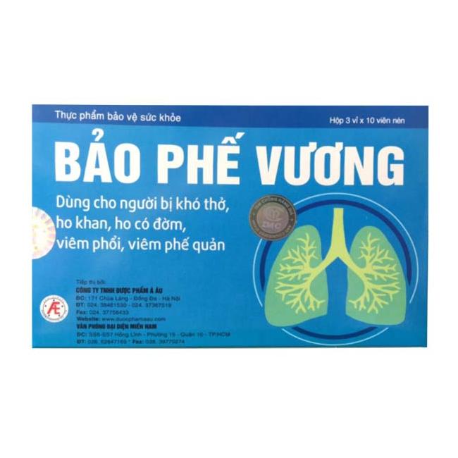Bảo Phế Vương giúp giảm viêm, giảm ho, giảm đờm, 30 viên