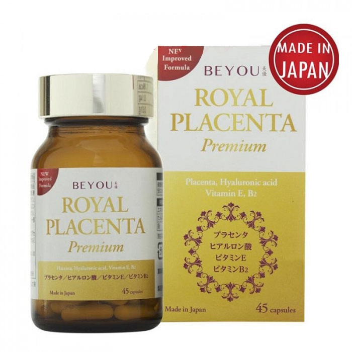 Tpbvsk giảm nhăn sáng da, ngừa nám Beyou Royal Placenta Premium, Chai 45 viên