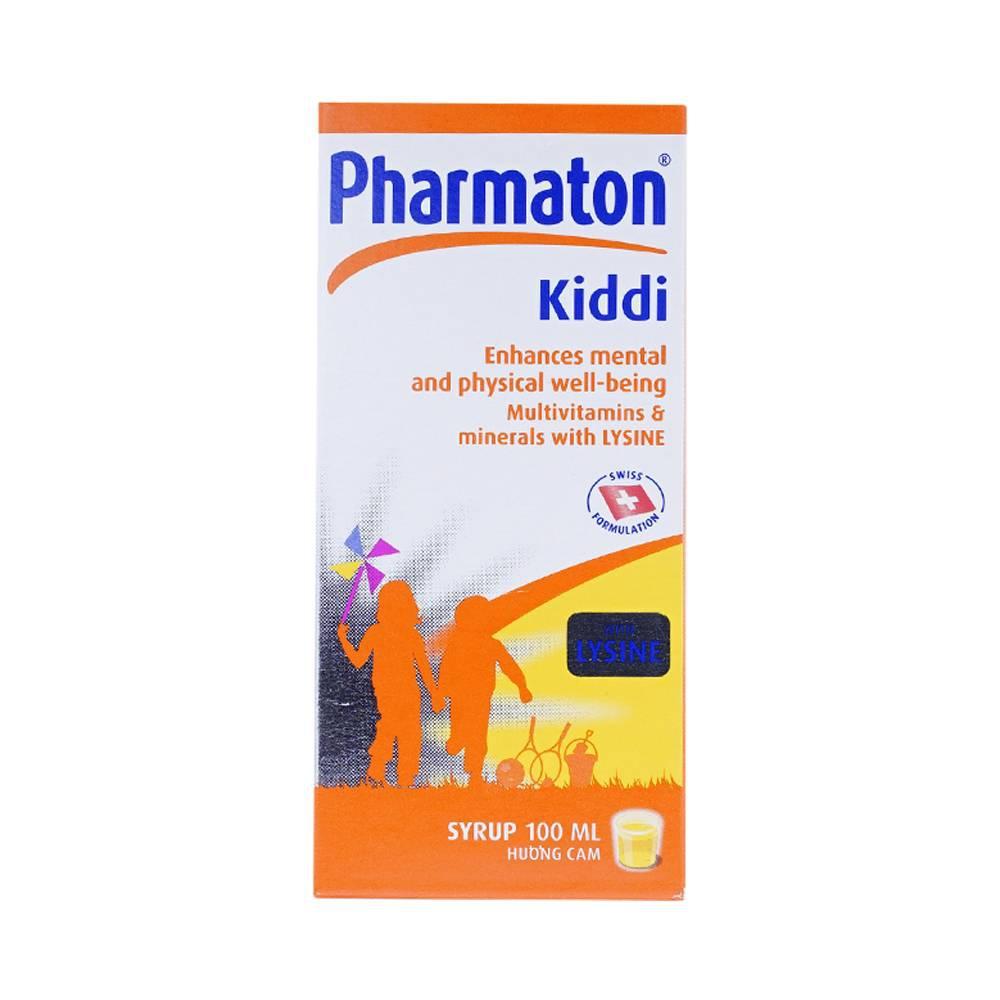 Bổ sung khoáng chất Pharmaton kiddi - Lysine, B1, Chai 100ml