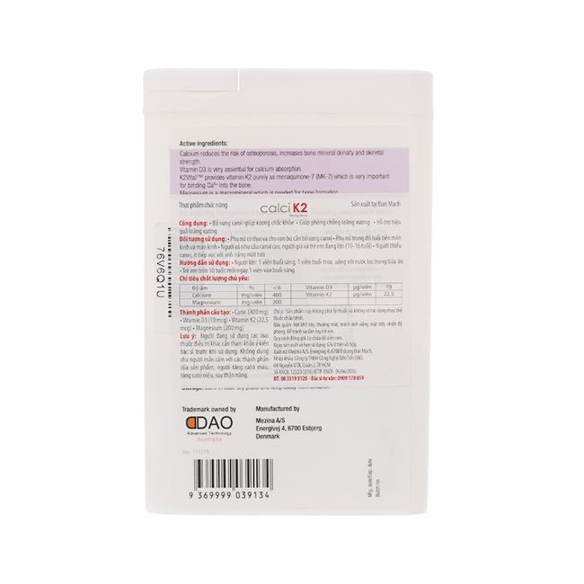 Mediphar USA Canxi Nano  K2 , Hộp 60 viên