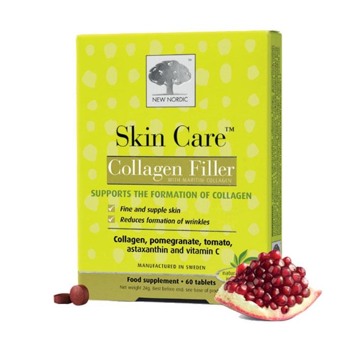 New Nordic  Skin Care Collagen Filler, Hộp 60 viên