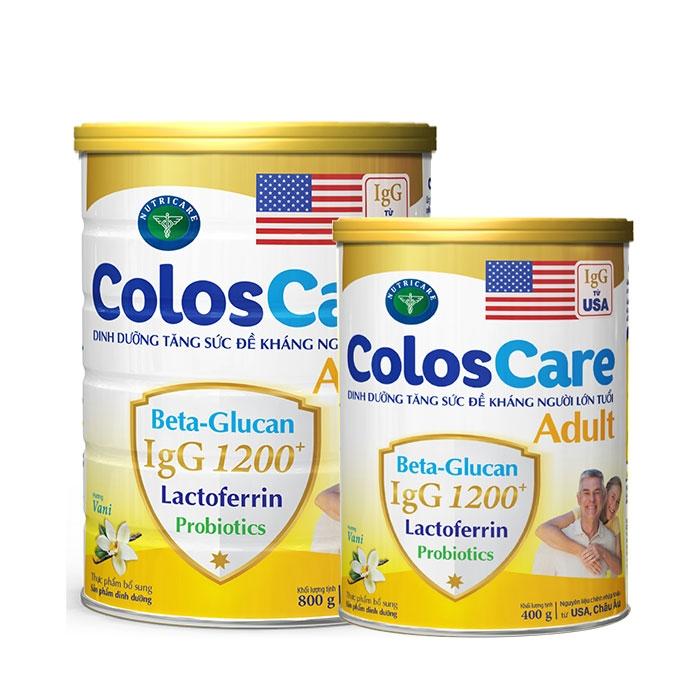 Sữa dinh dưỡng tăng cường sức đề kháng cho người lớn tuổi ColosCare Adult