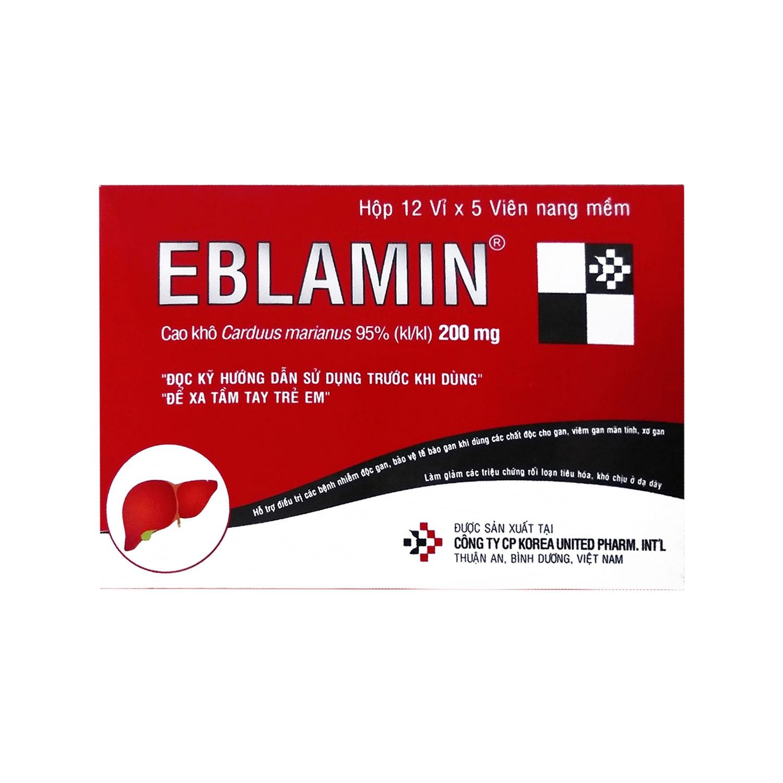 Thuốc bổ gan EBlamin, Hộp 60 viên