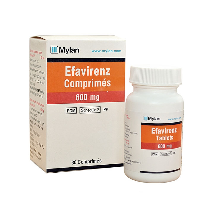 Thuốc Mylan Efavirenz 600mg, Hộp 30 viên