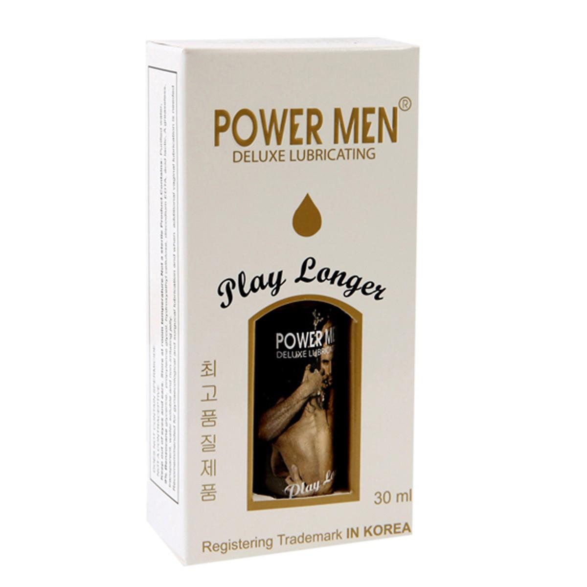 Gel bôi trơn kéo dài thời gian Power Men Play Longer 30ml