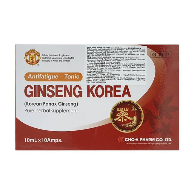 Ginseng Korean, Hộp 10 ống x 10ml