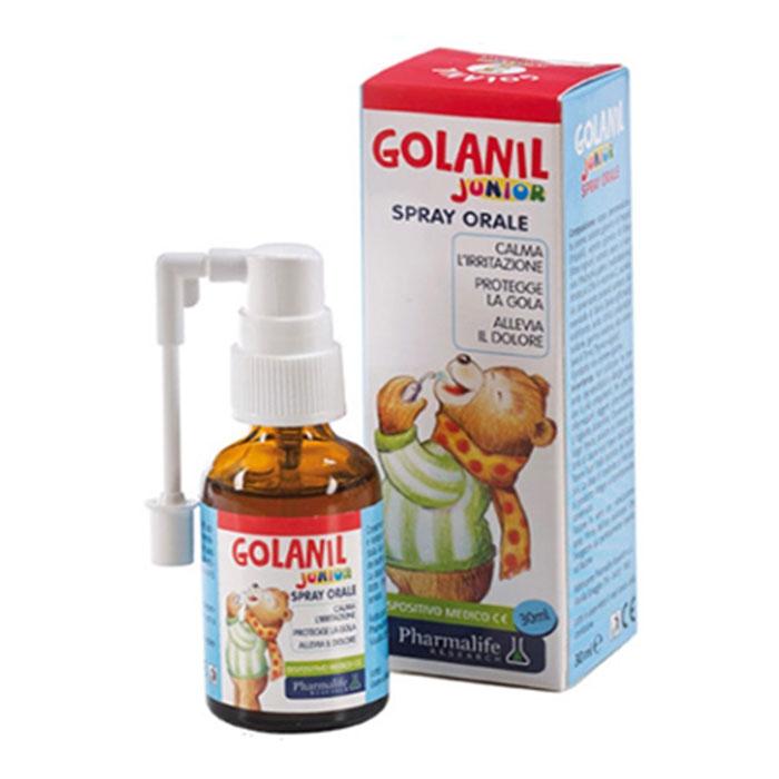 Tpbvsk hỗ trợ điều trị ho, viêm họng Golanil Junior, Lọ 30ml