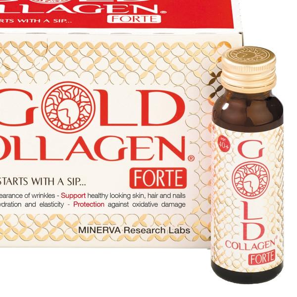 Nước uống Gold Collagen Forte Nhật Bản (Hộp 10 chai x 50ml)