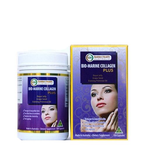 Viên uống Golden Health Bio Marine Collagen Plus