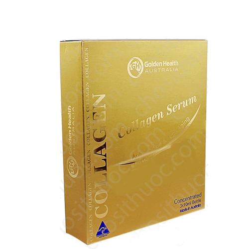 Golden Health Collagen Serum, Hộp 3 ống x 10ml