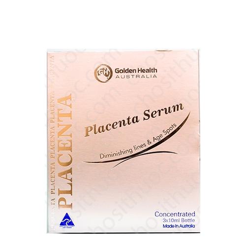 Golden Health Placenta Serum, Hộp 3 ống x 10ml