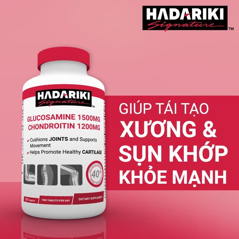 Hadariki Glucosamine 1500mg Chondroitin 1200mg tăng cường sức khỏe xương khớp (New)