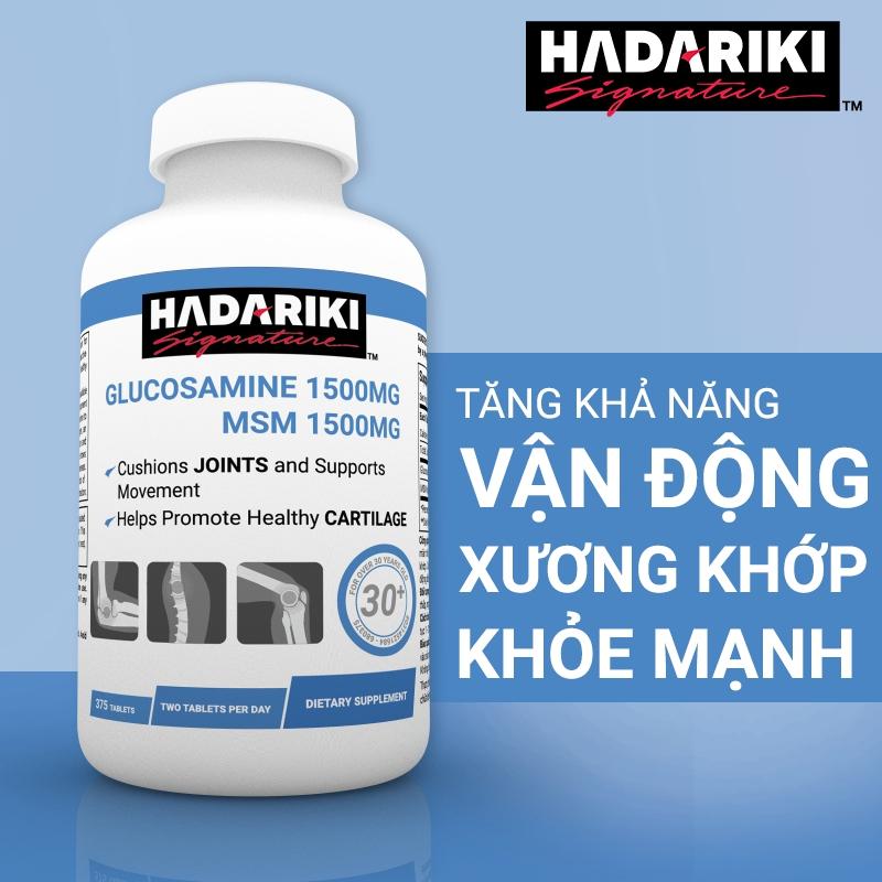 Hadariki Glucosamine 1500mg MSM 1500mg tăng cường sức khỏe xương khớp | NEW