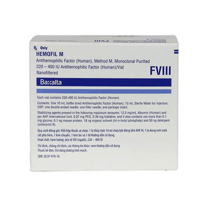 Thuốc Hemofil M, Lọ 10ml