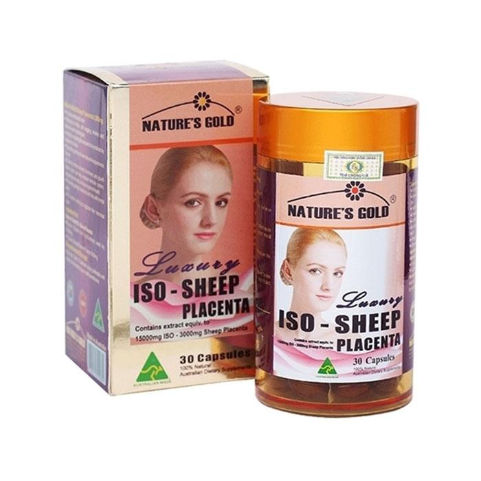 Tpbvsk cân bằng nội tiết tố nữ Nature's Gold Iso-Sheep Placenta, Hộp 30 viên