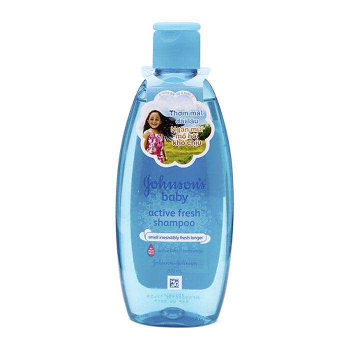 Dầu gội thơm mát năng động Johnsons Baby Active Fresh Shampoo 200ml