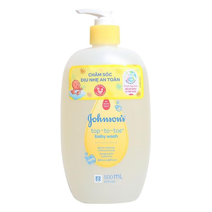 Sữa tắm gội toàn thân dành cho da nhạy cảm Johnsons Baby Top-To-Toe Wash 500ml
