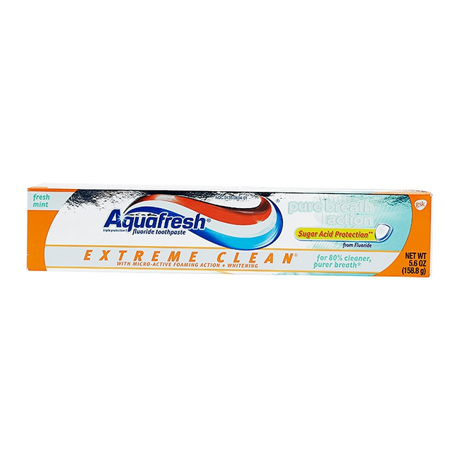 Kem đánh răng Aquafresh Extreme Clean Pure Breath Action 158,7g