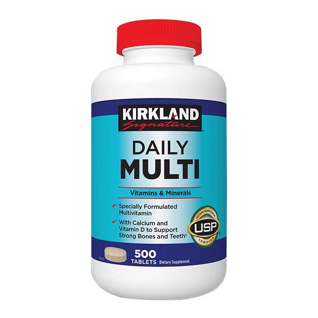 Kirkland Daily Multi Vitamins & Minerals  | Chai 500 Tablets