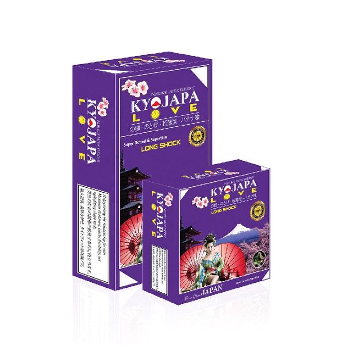 Bao cao su Kyojapa Love, Hộp 3 cái