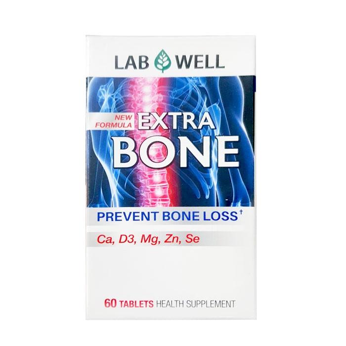 Tpbvsk xương khớp Lab Well Extra Bone bổ sung Canxi, D3, Magie, Kẽm, Selenium, Hộp 60 viên