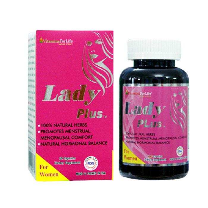Viên uống tiền mãn kinh Lady Plus Vitamins For Life, Hộp 60 viên