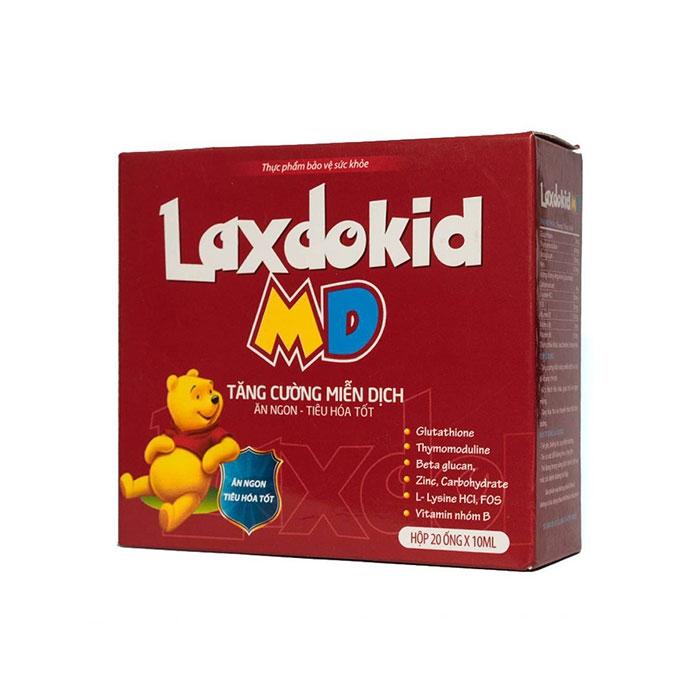 Tpbvsk tăng cường miễn dịch Laxdokid Md, Hộp 20 ống x 5ml