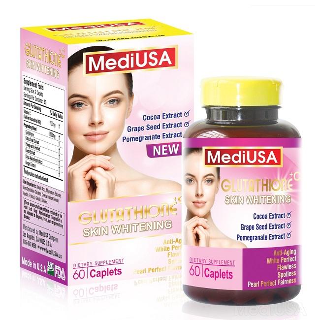 MediUSA Glutathione Skin Whitening giúp da trắng sáng