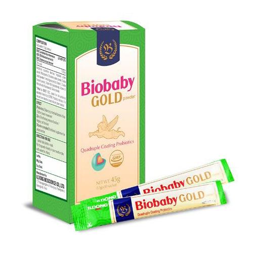 Men vi sinh Biobaby Gold Powder, Hộp 30 gói