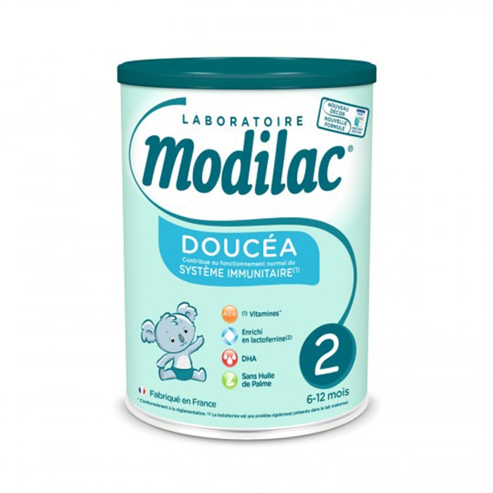 Sữa Bột Modilac Doucea 2, Lon 800g dành cho bé từ 6-12 tháng tuổi