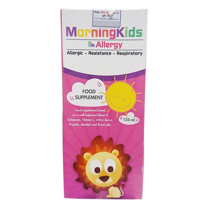 Morningkids Allergy 125ml giúp tăng cường sức đề kháng
