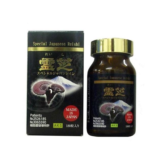Nấm linh chi đỏ Special Japanese Reishi Nhật Bản, Chai 180 viên