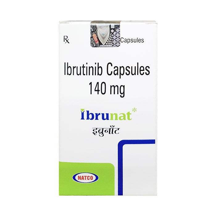 Thuốc trị ung thư Natco Ibrunat Ibrutinib 140mg, Hộp 30 viên