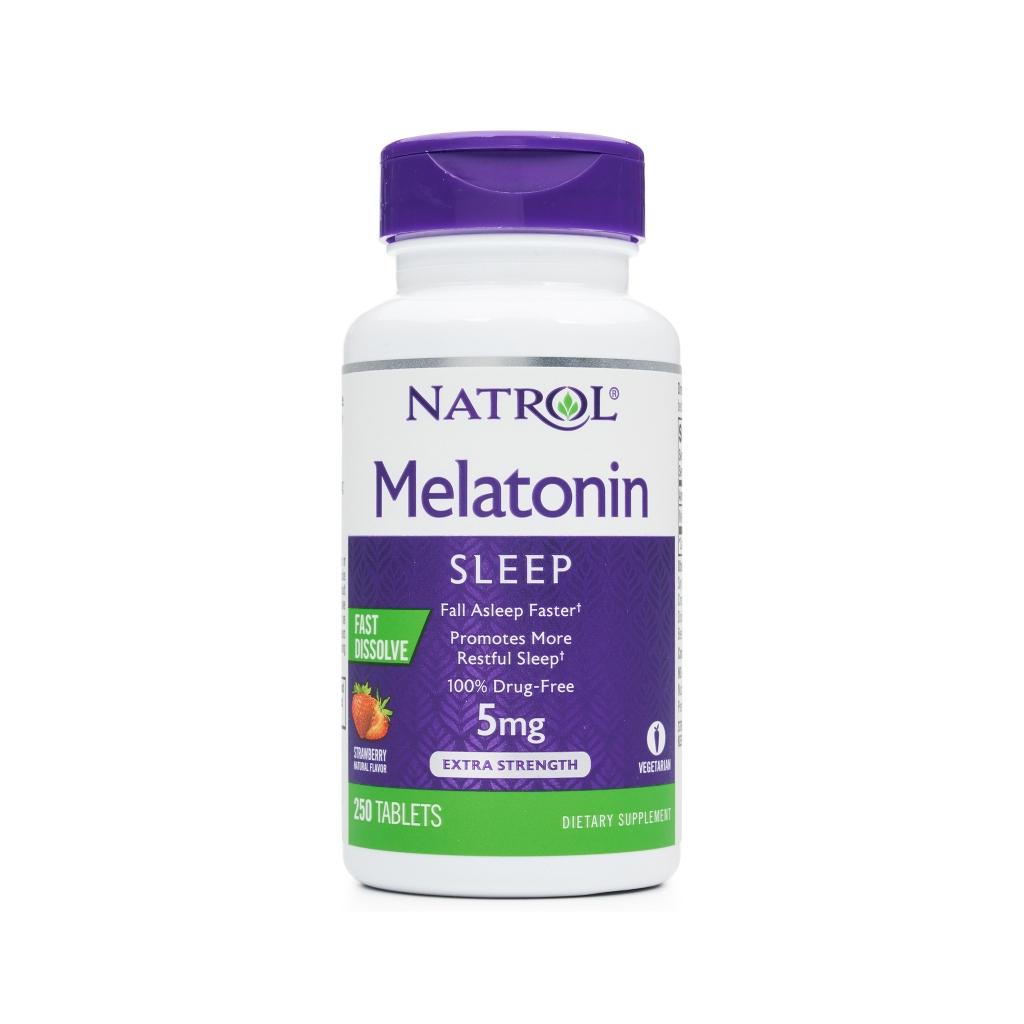 Tpbvsk giúp ngủ ngon Natrol Melatonin Sleep 5mg, Chai 250 viên
